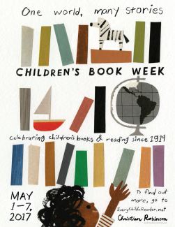 Official poster for Children's Book Week by Christian Robinson
