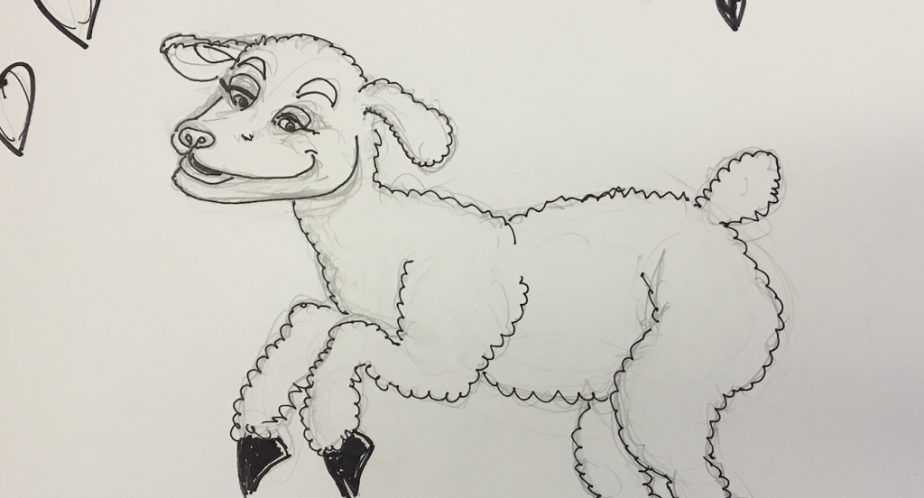 Lamb Colouring Page | 552x1024