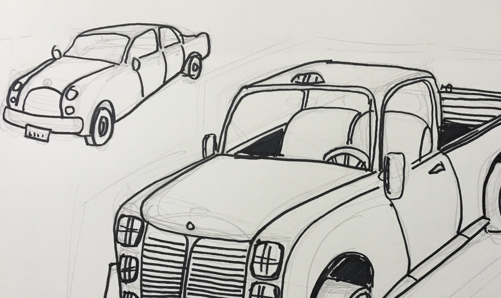 Car Coloring Page Fairytale Town