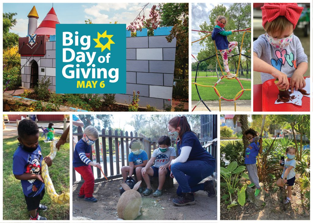 Support learning, growth, and play on the Big Day of Giving, May 6, 2021!